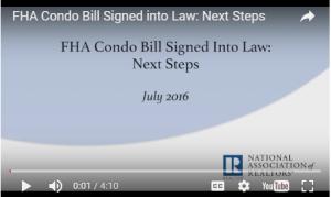 FHA Condo Bill video