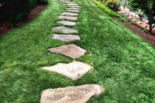 stone walkway ideas & wall