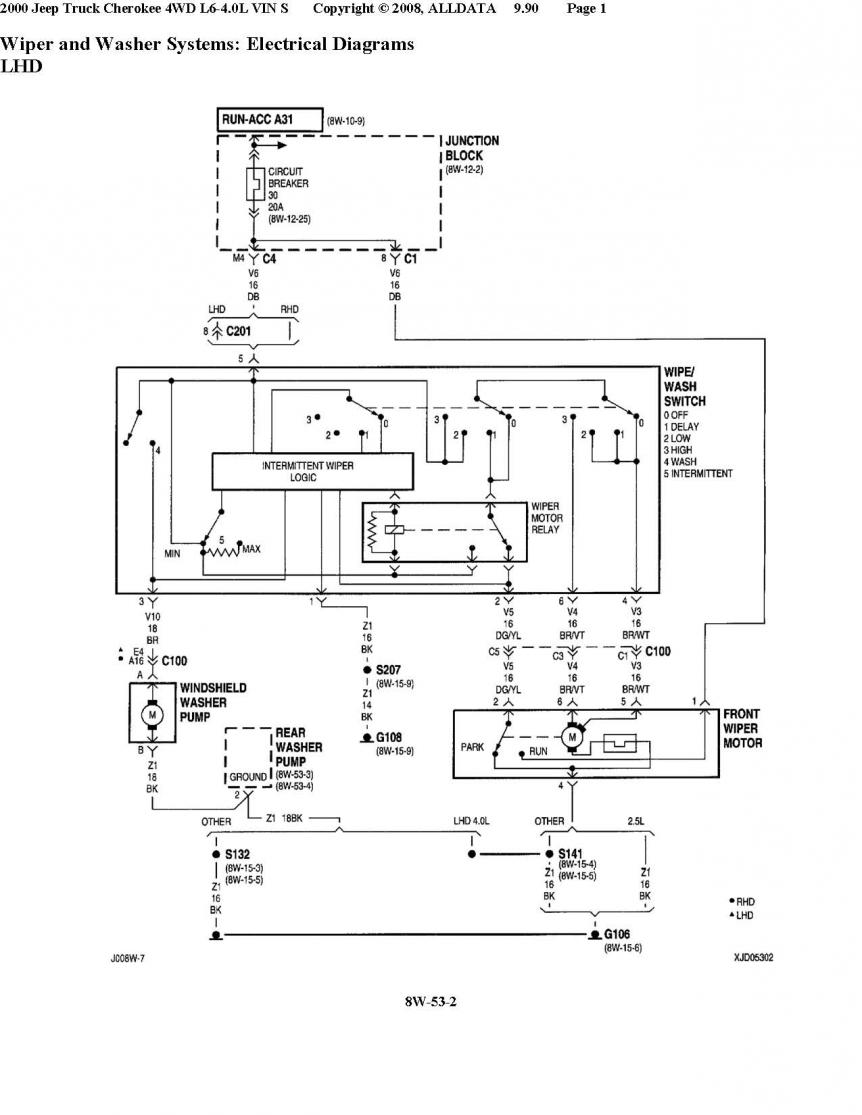 hight resolution of diagrams a circuit breaker protects both the washer and wipers so