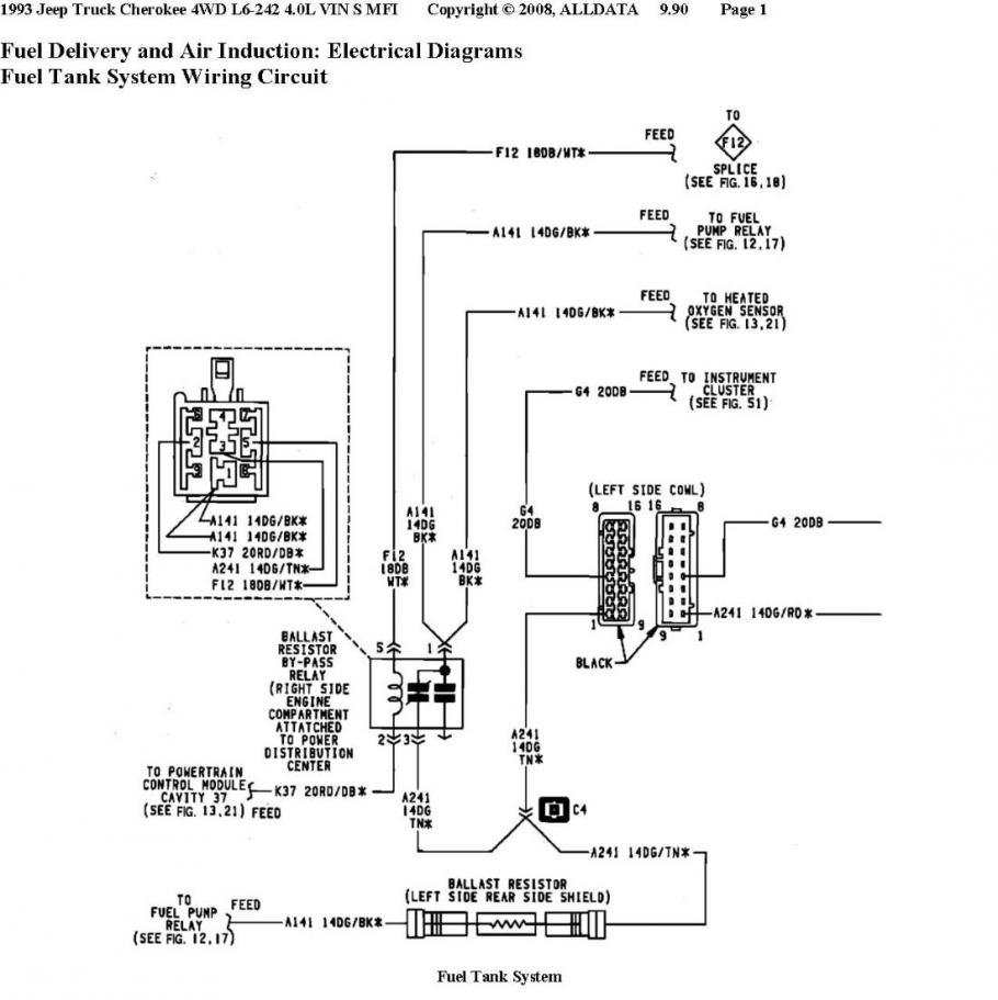 hight resolution of i have included a wiring diagram for the fuel pump if you disconnect the connector 93 xj 4 0