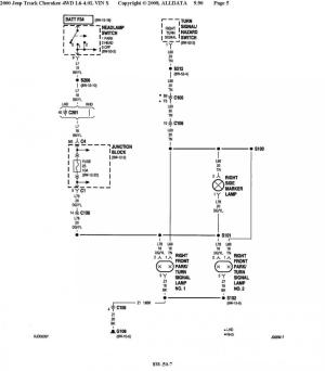 XJ OEM fog light wiring