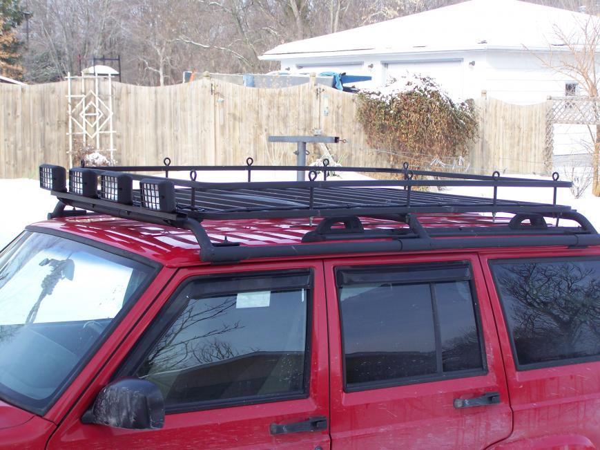 Roof rack lights, wiring routing, etc...
