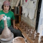 16. Joel-Cherrico-Pottery-at-The-Local-Blend-Water-Cups-Throwing1