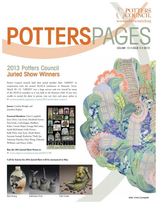 Page 1, Potters Pages, Potters Council 2013
