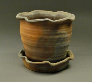 Wood Fired Stoneware Pottery Planter
