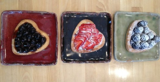 Header, Mailchimp, Up Cafe, Joel Cherrico Pottery, Stoneware Plates with Food