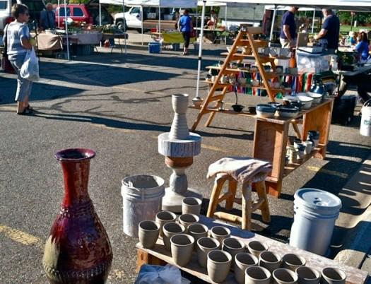 Sartell Market Monday, Pottery at Farmers' Markets, Joel Cherrico Pottery, Copper Red Jar, Coil Pot