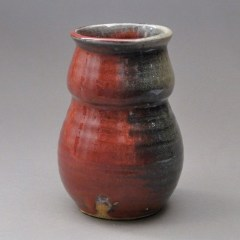 Copper-Red-Pottery-Copper-Red-Vase-Gold-Repair-Pottery-S-Crack-Joel-Cherrico-Pottery-2013-Image2