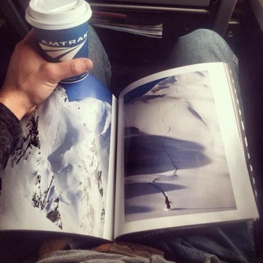 Joel Cherrico Pottery, Big Mountain Skiing, Amtrak, 2014