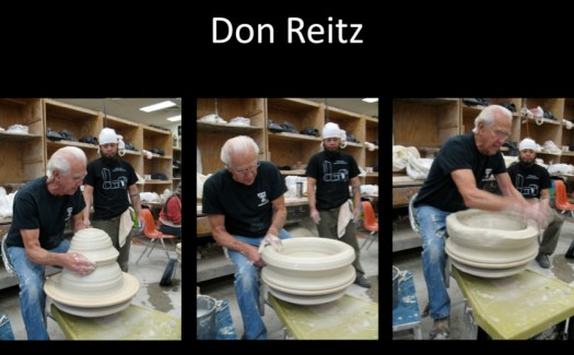 Don Reitz Throwing, 3 Images, Joel Cherrico Pottery, Abstract Expressionism in Clay, Flagstaff AZ