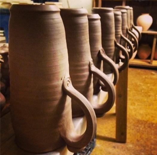 Prairie Fire Pottery, Joel Cherrico Pottery, Stoenware Travel Mugs