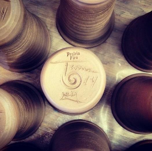 Prairie Fire Pottery, Joel Cherrico Pottery, Stoneware cup collaboration