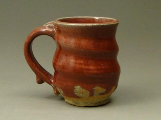 Copper Red Pottery, Stoneware Wheel Thrown Mug, Cups, Handmade Pottery, Handmade Ceramic Pottery, sku 427, Image 5