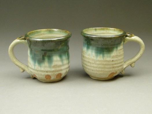 Handmade Pottery Stoneware Mugs, Wheel-Thrown pottery, Handmade Stoneware, SKU 438, Image 1