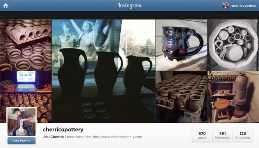 Cherrico Pottery, Instagram, 2015