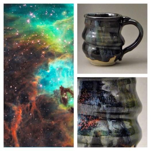 Cosmic Mugs, Handmade Ceramic Pottery, Cherrico Pottery, Hubble, 2014