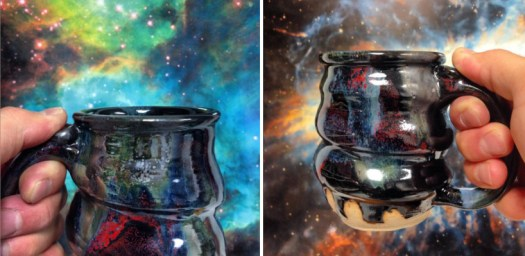 Image 14, cosmic mugs in front of magellanic cloud and planetary nebula