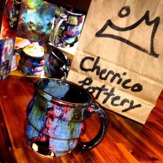 Cosmic Mug and Brochure and Cherrico Pottery Bag, Photo by Tara Maas