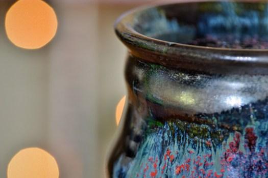 Detail Shot, Cosmic Mug, Photo by Julia Eckart, Cherrico Pottery