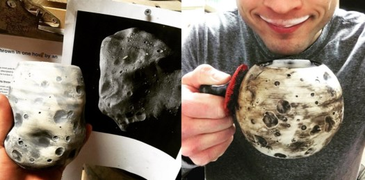Image 4, Cosmic Pottery, Asteroid and Moon mugs and cups, Cherrico Pottery, 2016
