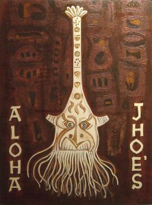 Aloha Jhoe's 36x48, Acrylic and Mixed Media on Panel (2003) by Cherry Capri