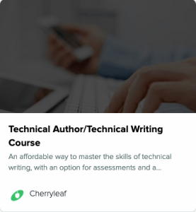 technical writing course fingers on keyboard