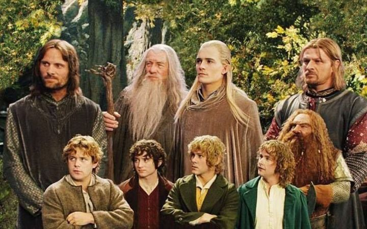 The Fellowship of the Ring, which is composed entirely of light-skinned individuals.