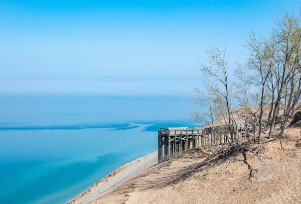 View from Lake Michigan Overlook on Pierce Stocking Scenic Drive