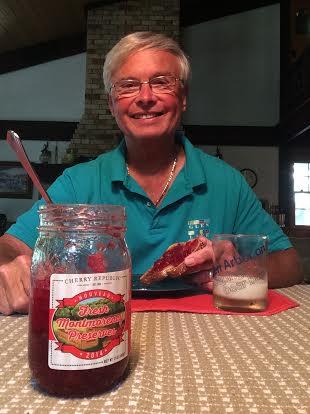 Bob Paetz enjoying Montmorency Preserves Nouveau