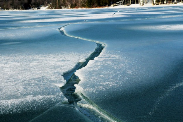Shattered ice on Glen Lake