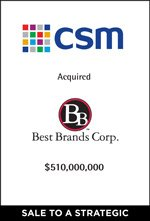 CSM Completes Acqisition of Best Brands