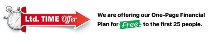 Free One-Page Financial Plan for the first 25 people