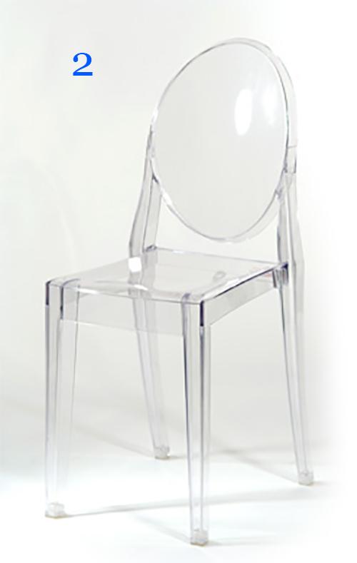 Sedie trasparenti  Cherubini Gup