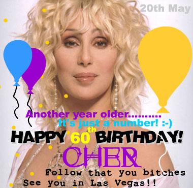 Cher 60 anos