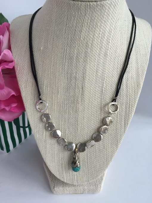Faceted Turquoise Pendant