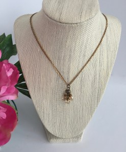 Swarovski Golden Crystal Cluster Mixed Metal Chain Necklace