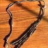 Convertible Bronze Crystal Tassel Copper Slider Necklace