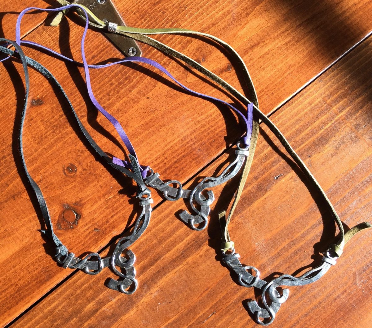 Adjustable Sterling Silver Tribal Collar Necklace