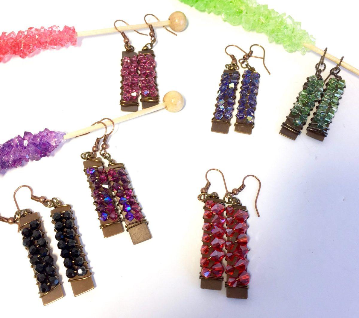 Swarovski Crystal Rock Candy Dangle Earrings