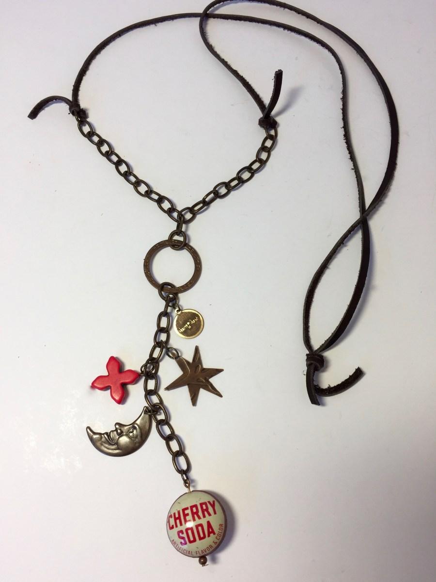 Vintage Cherry Soda Bottle Cap Found Memories Necklace