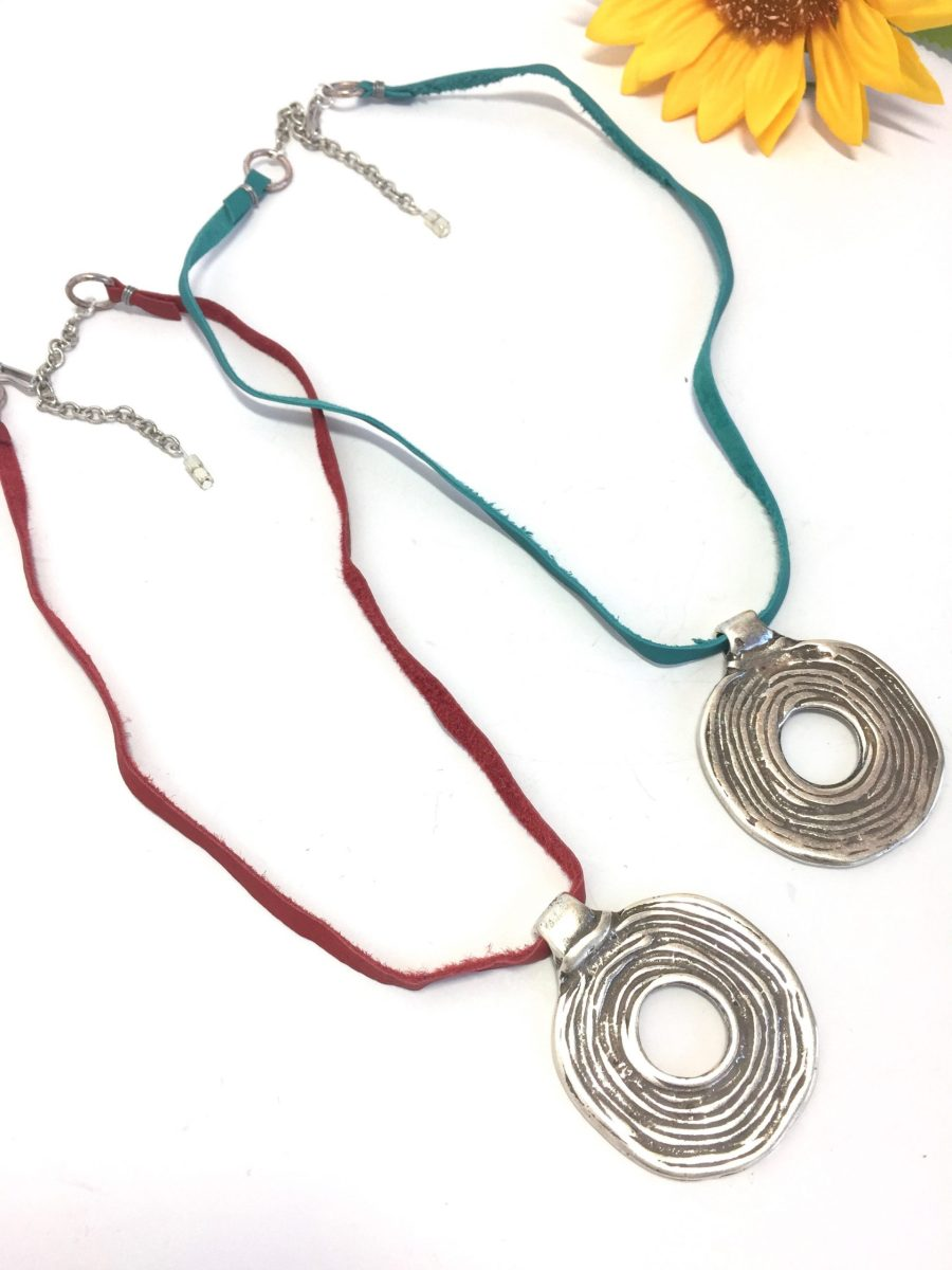 Round Tribal Medallion Statement Necklace