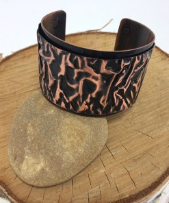 Crushed Velvet Custom Copper Cuff Bracelet