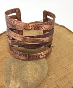 Star Crossed Lovers Custom Copper Cuff Bracelet