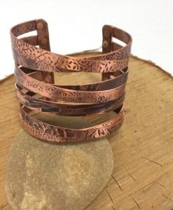 Star Crossed Lovers Custom Copper Cuff Bracelet