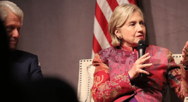 Hillary Clinton, again, with the misogyny