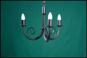 Bruce 3 Arm Wrought Iron Chandelier
