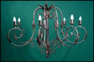 Julia 7 Arm Wrought Iron Chandelier