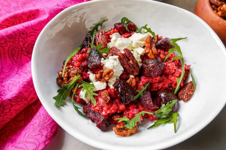 Beetroot Risotto With Spiced Nuts & Feta » Cheryl Miles - Radio DJ, Event  Host, Voice Talent, Home Chef