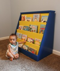 How to Build a Toddler Bookcase. Illustrated plans with Photos