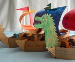 Cardboard Pirate Ships - Pirate Activities for kids